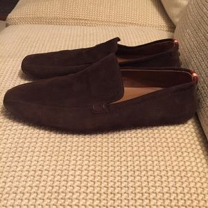Bally Suede Driver Loafer Slip On Shoes